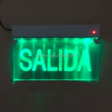 led exit sign with RED charging lamp