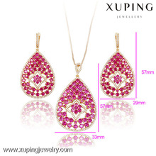 63647-Xuping Lastest and Colorful Bridal Jewelry Set for Wedding Anniversary