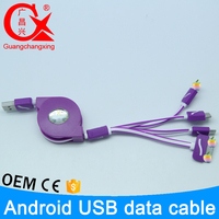 Wholesale quality 1m flexible flat extension cable 4 in 1 usb cable