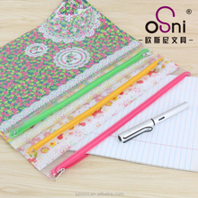 A4 PP Colorful Beautiful Cheap Document Bag With Zipper