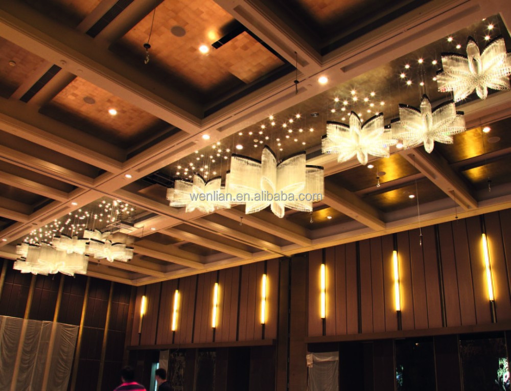 Elegant flower hotel chandelier for guest room lamps