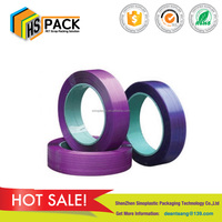 High tension PET strap polyester wrapping belt used clothes packing band