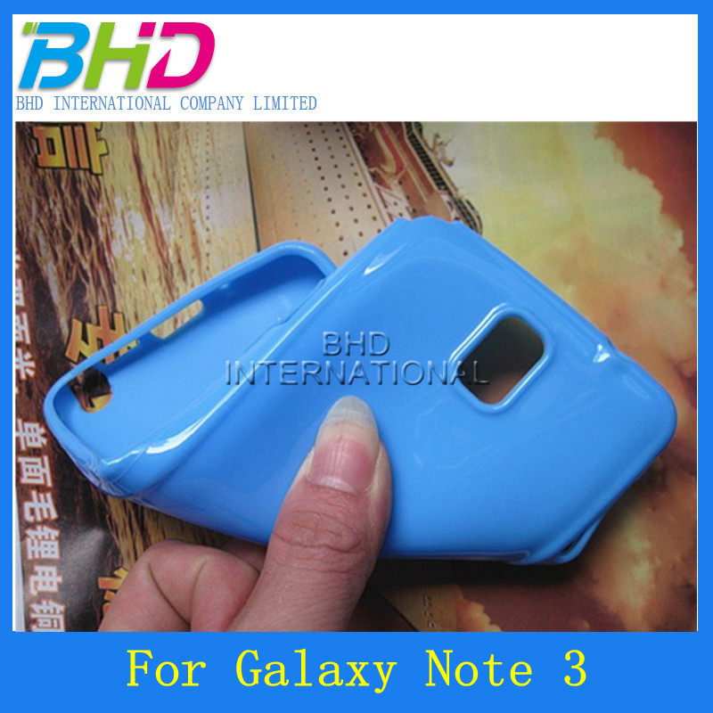 Hot selling solid color TPU candy soft case for samsung galaxy note 3 N9000