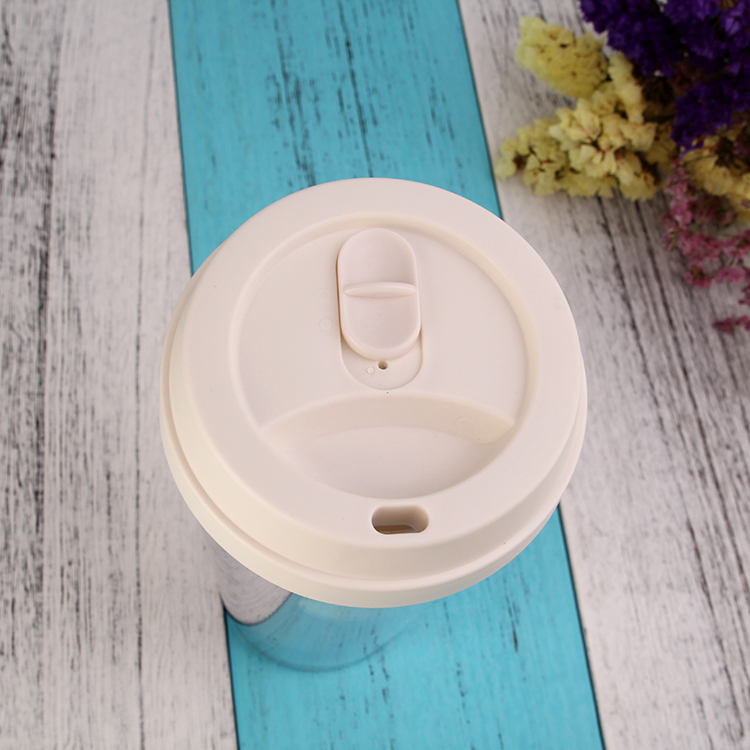 China manufactured custom logo reusable take away clear beverage coffee mugs with lid