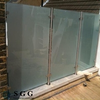 Top quality fabric obscure toughened laminated glass balustrades