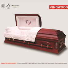 FEMALE ESTHER CHERRY plywood casket coffin wholesale