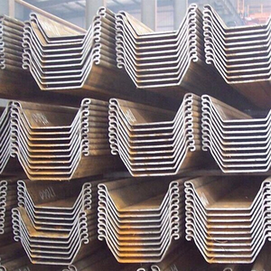 U Z type profile hot rolled steel sheet pile grade SY295