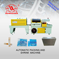 box, brochure, rounds wrapping and shrinking machine