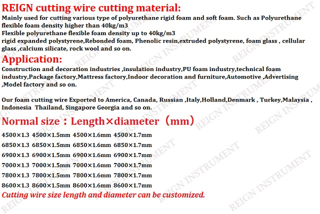 Factory supply new product abrasive wire for CNC foam cutting machine