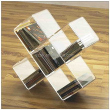 High quality low price single clear wall mounted acrylic book shelf