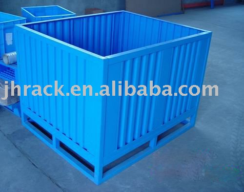 Low cost and high quality stackable steel container