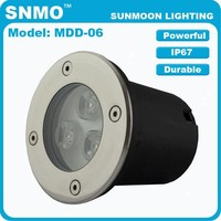 High quality led stainless steel outdoor low voltage 12V 1w 3w 6w 9w 12w 18w inground spot light