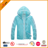 Fashion design jacket wholesale breathable women skin jacket Outdoor sports anti-uv apparel