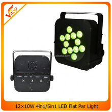 12*12W 5in1 rgbwa flat par can barn door flat par stage light