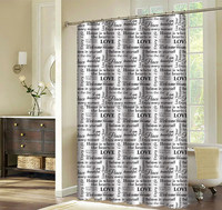 hookless shower curtain manufacturer printed polyester shower curtain wholesaler