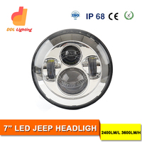 2015 Emark Professional Standrad 7 Inch Round High/low Beam LED Headlight Jeep Wrangler