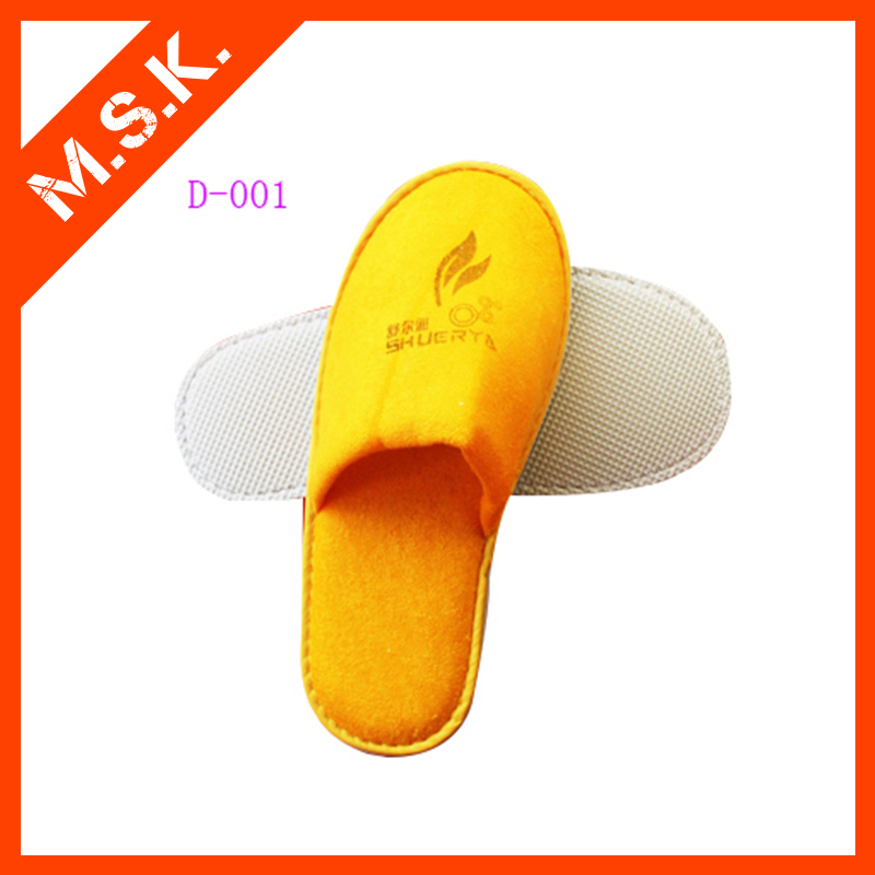 Comfortable hot sale personalized bathroom washable hotel guest slippers