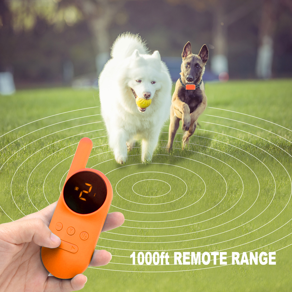 500m Waterproof and Rechargeable Static Shock Vibration Dog Collars Remote Control Dog Training Collar