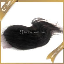 Guangzhou wholesale 4x4 lace top body wave virgin hair brazilian closure pieces