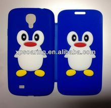 for Samsung Galaxy S4 penguin flip silicone case cover