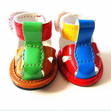 FX0119C Fancy design pet dog colorful PU sandal shoes