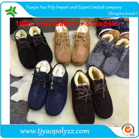 fashion pattern cow calf leather shoes for men