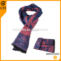 Hot sell Newest design Big Flower fake cashmere scarf