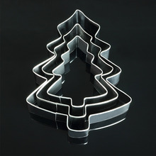 3-piece suits christmas trees stainless steel cookie cutter