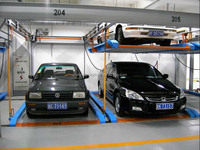Mechanical smart system garage elevated car parking automation