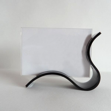 Unique Desktop Curved Acrylic Photo Frames Picture Showing Stand
