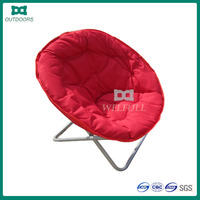 Red portable moon chair/adult folding moon chair
