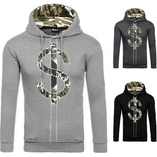 Autumn and Winter men Explosion Models Camouflage Print S <strong>logo</strong> design Sweater