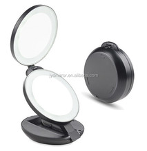 LED Lighted Makeup Mirror,Compact Folding Luxury Double Side 10X Magnifying Beauty Cosmetic Mirror