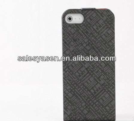 New fashion for iphone 5 leather cover case