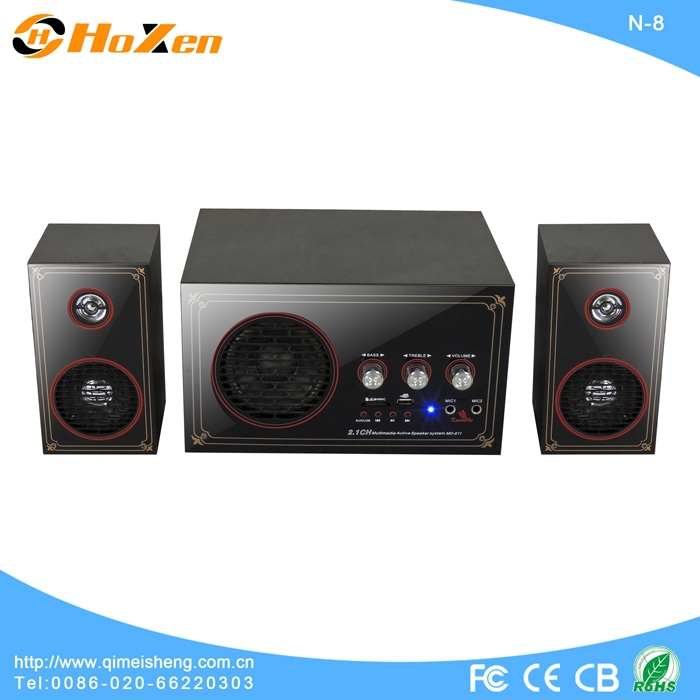 newest technic touch control screen audio subwoofer bass multimedia 2.1 home theater system cabinet made in china N-23