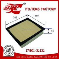 Car Auto parts Genuine Air filter used for Toyota Camry/Lexus 17801-31131