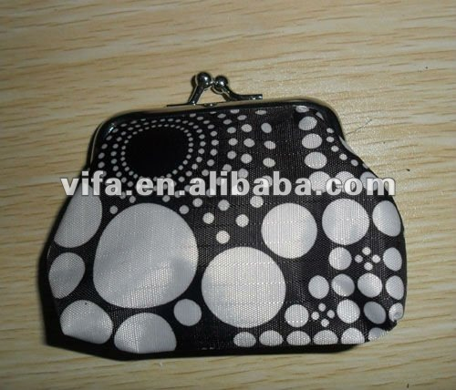 Black and white coin purse