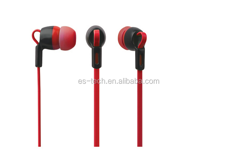 New design high performance earphone for pc/mp3/moblile phone with flat cable design