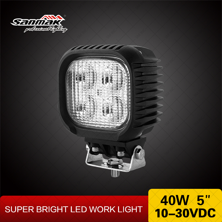 "5"" 40W cree 10w each led chip 3500lm led motorcycle driving lights"