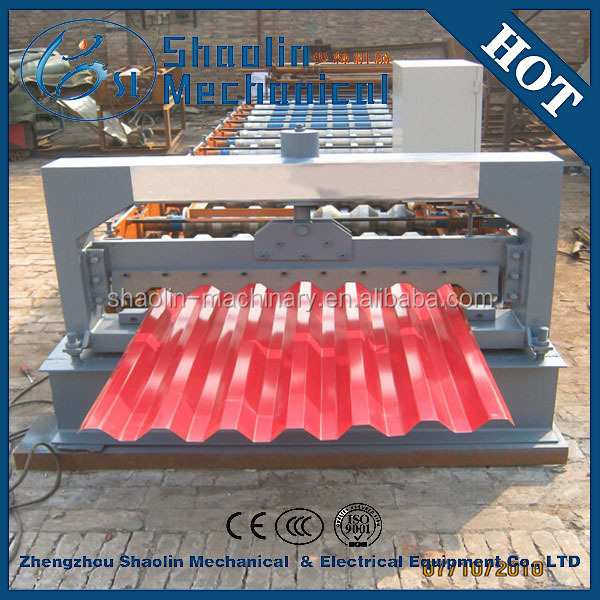 High productivity interlocking tiles making machine with low consumption