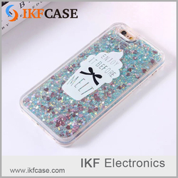 2016 Lovely Cute Heart Glitter Bling Quicksand Moving Stars Liquid Case Cover For iPhone 5S