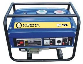 KBK-2009 100% copper wire 220V electric start home use kerosene generator 2.2KW