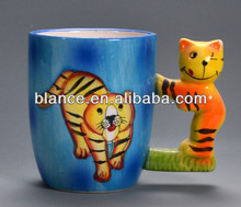 3D Ceramic mug with tiger design