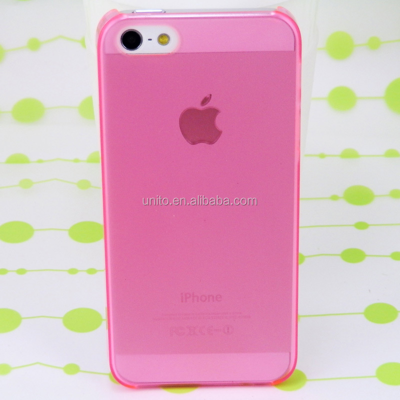 Wholesale Cheapest 0.5mm ultra-thin transparent pc case for iphone 5S