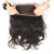2016 New arrival natural black body wave with lace band 360 lace frontal closure
