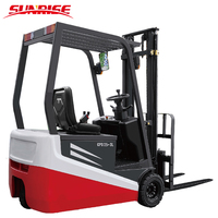 3 Wheels Driven Mini Forklift 1.75Ton Electric Forklift Trucks CPDS18 with Battery
