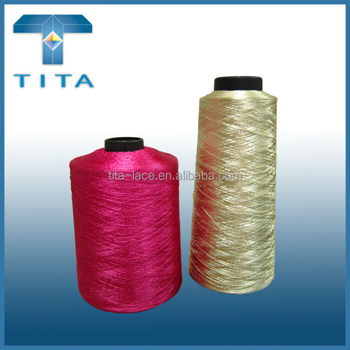 150D/2 hot selling reflective thread for embroidery, hand knitting, sewing from Hangzhou textile