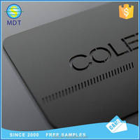 Factory price customized size stainless steel cheap metal card black business card playing card