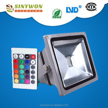 SINYWON 10w-50w 16 Colors Dmx RGB Outdoor Led Flood Light