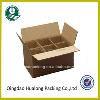 Wholesale custom 6 bottle cardboard wine box